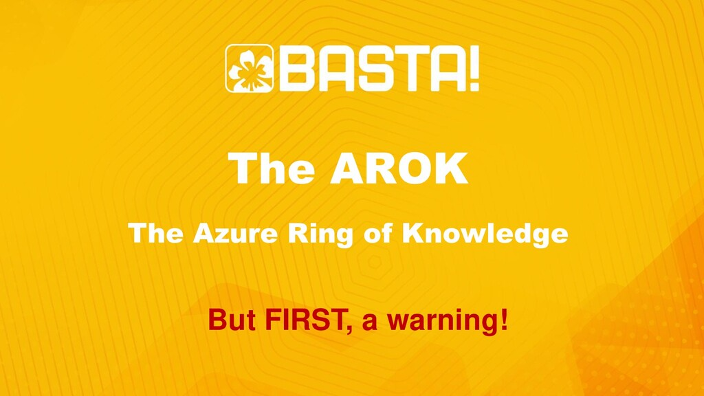 The AROK The Azure Ring of Knowledge But FIRST,...
