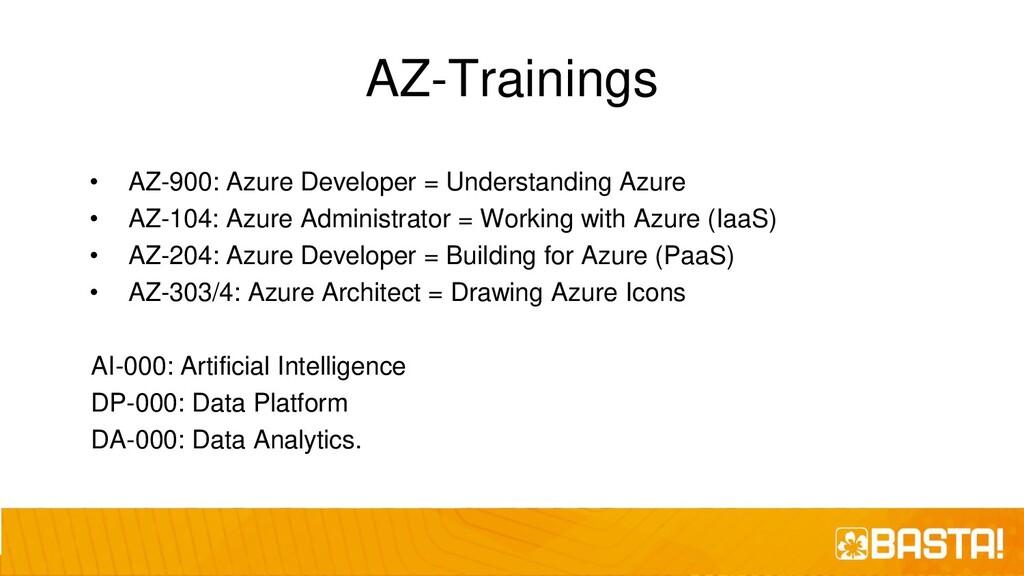 AZ-Trainings • AZ-900: Azure Developer = Unders...