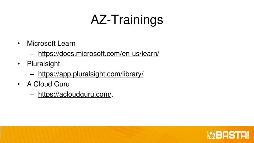 AZ-Trainings • Microsoft Learn – https://docs.m...