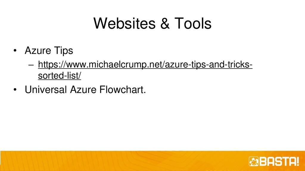 Websites & Tools • Azure Tips – https://www.mic...