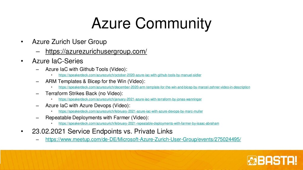 Azure Community • Azure Zurich User Group – htt...