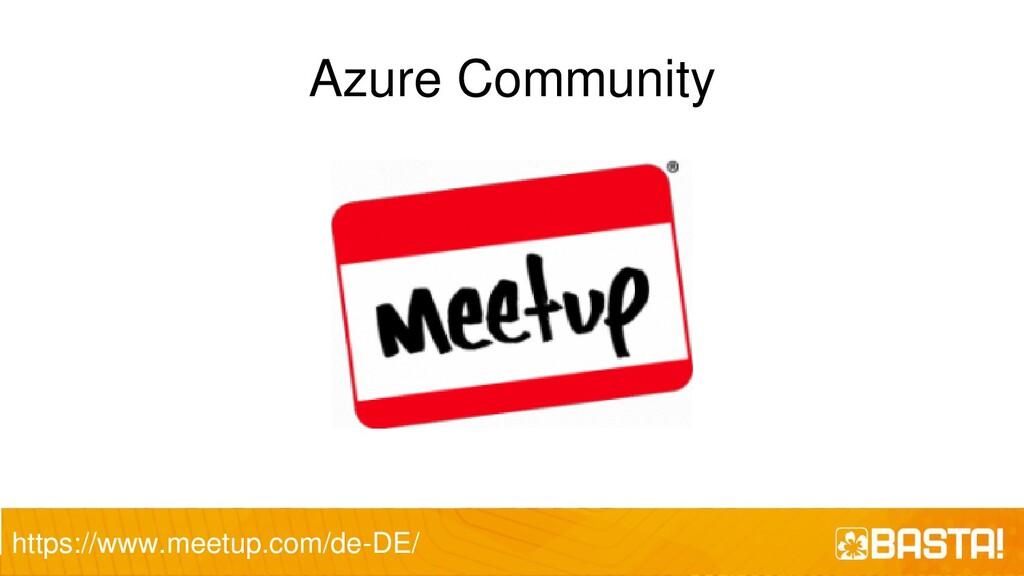 Azure Community https://www.meetup.com/de-DE/