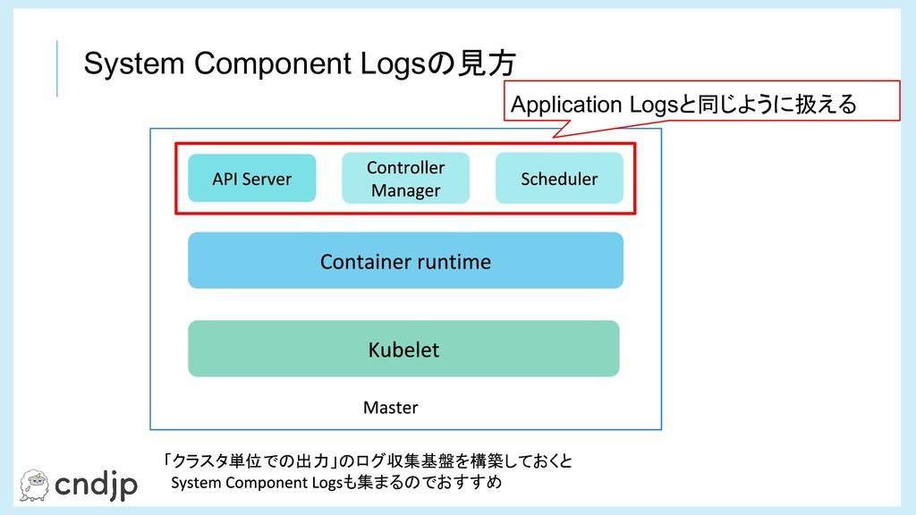 Application Logsと同じように扱える 「クラスタ単位での出力」のログ収集基盤を構...
