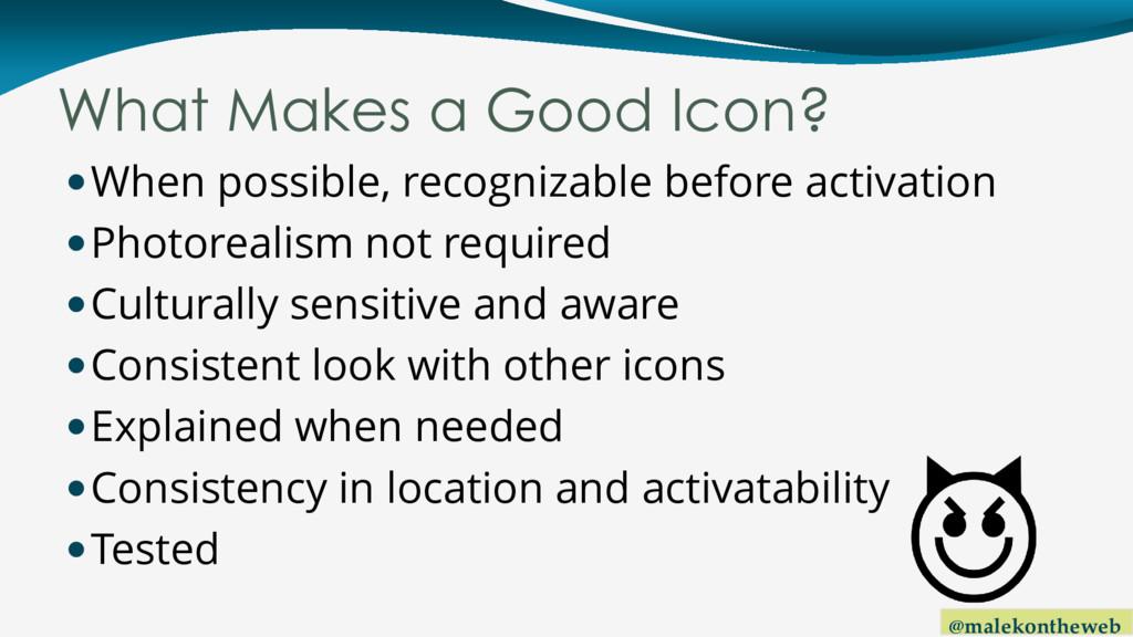 @malekontheweb What Makes a Good Icon? When po...