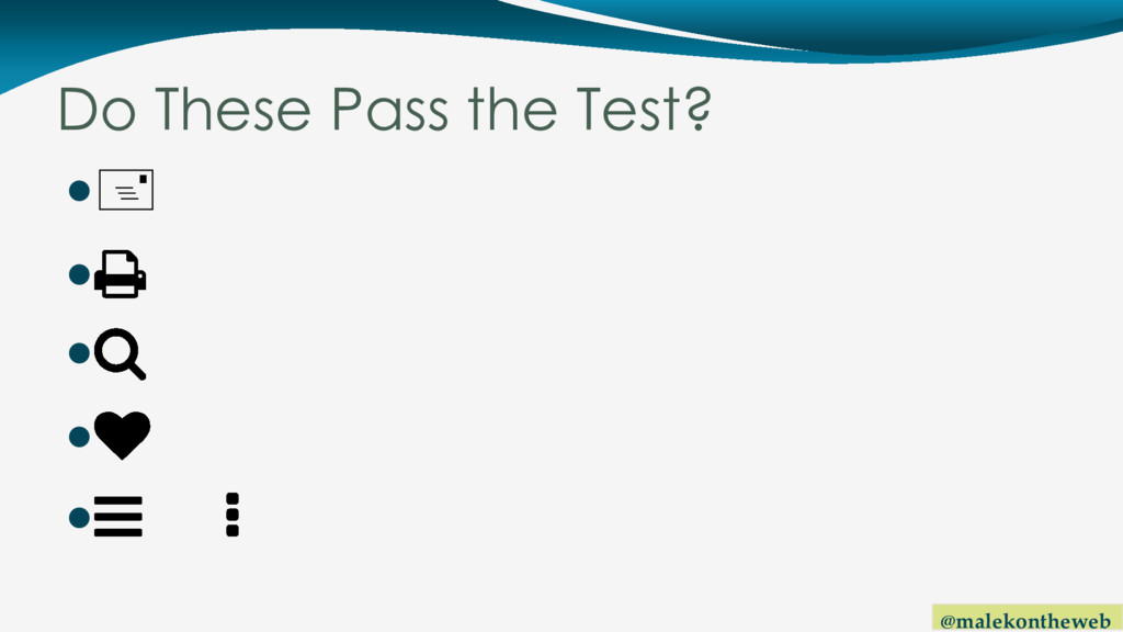 @malekontheweb Do These Pass the Test? +   ...
