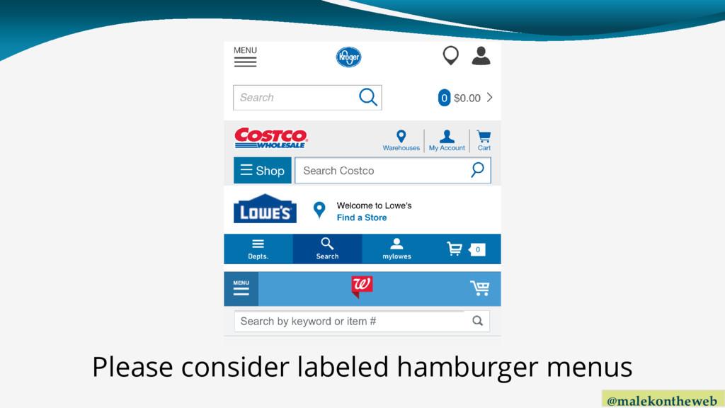 @malekontheweb Please consider labeled hamburge...