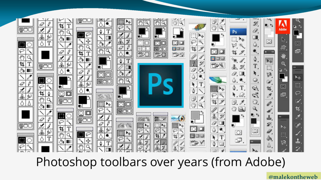 @malekontheweb Photoshop toolbars over years (f...