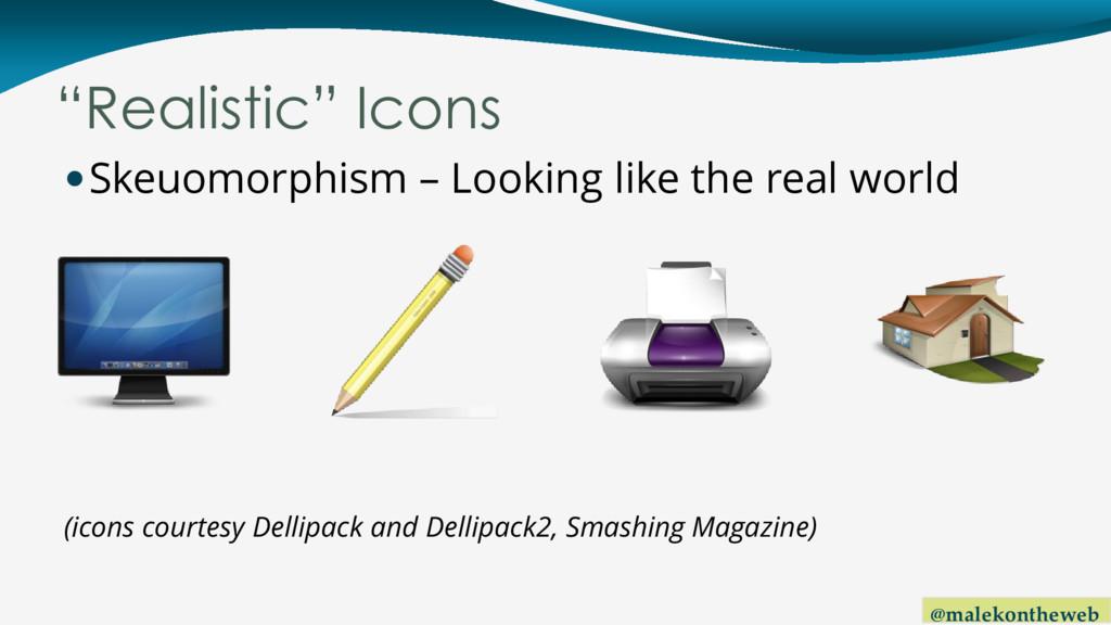 """@malekontheweb """"Realistic"""" Icons Skeuomorphism..."""