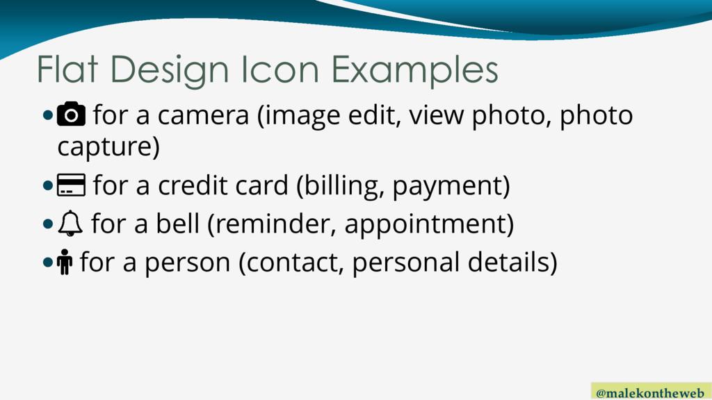 @malekontheweb Flat Design Icon Examples  for ...