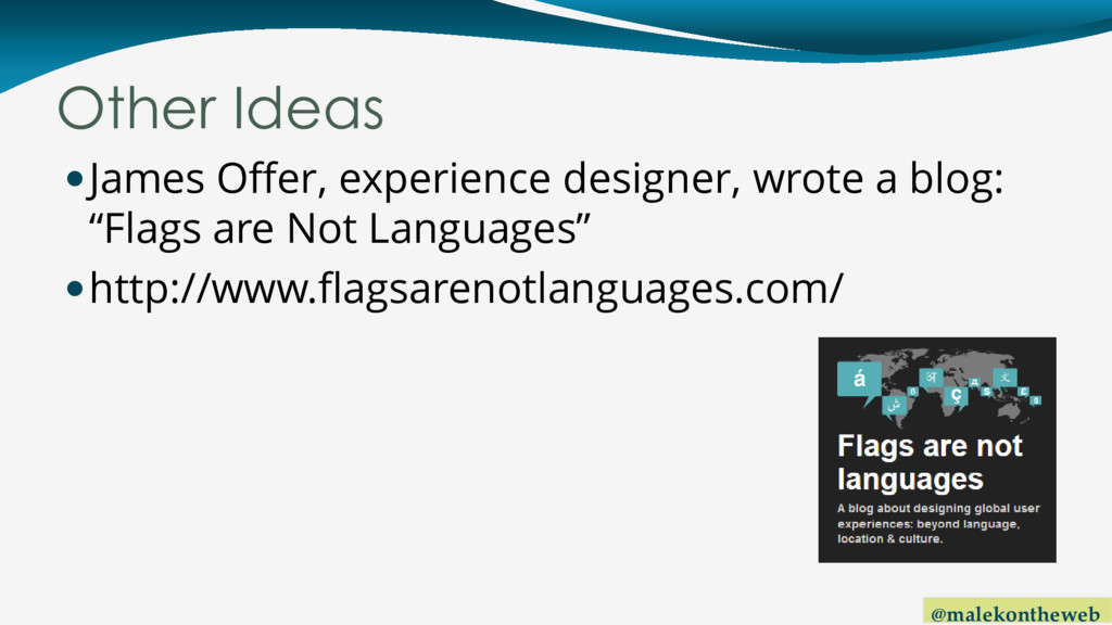 @malekontheweb Other Ideas James Offer, experi...