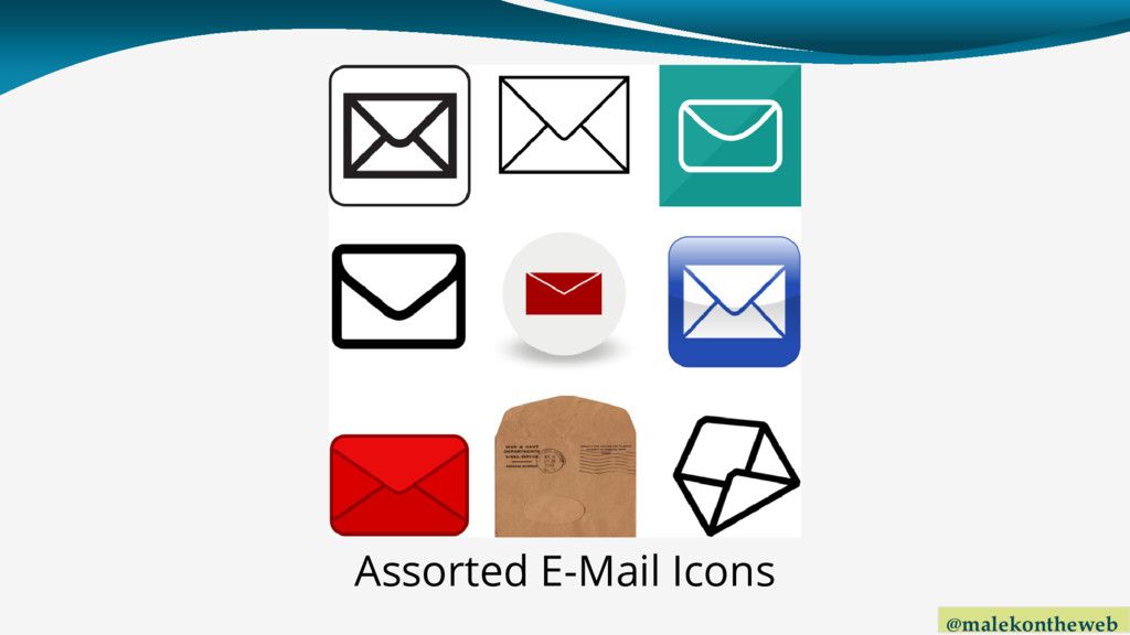 @malekontheweb Assorted E-Mail Icons