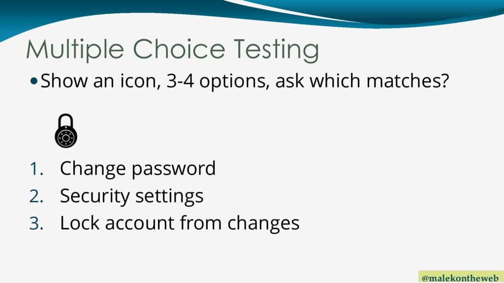 @malekontheweb Multiple Choice Testing Show an...