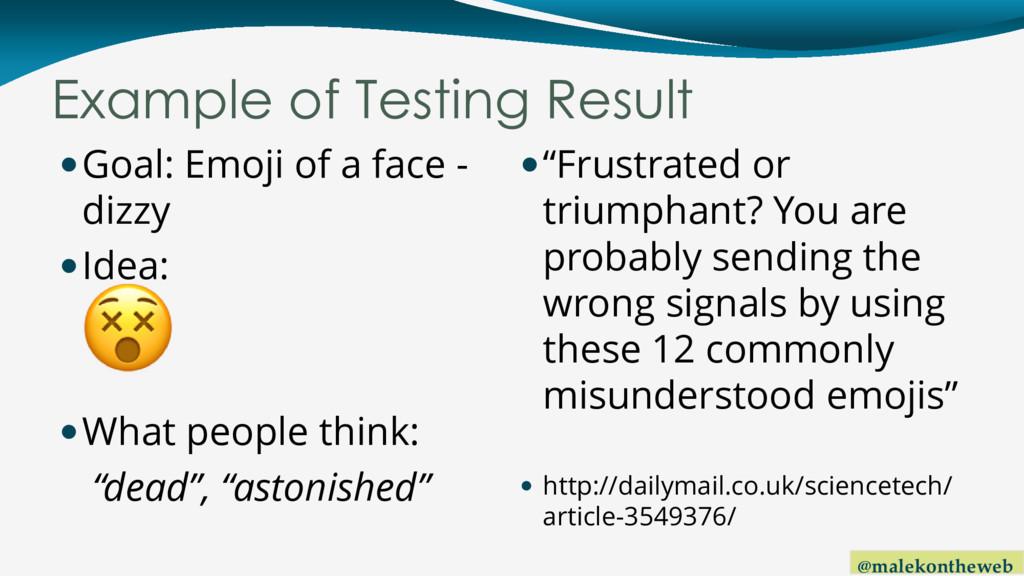 @malekontheweb Example of Testing Result Goal:...