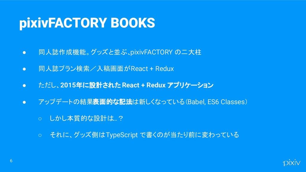 6 pixivFACTORY BOOKS ● 同人誌作成機能。グッズと並ぶ、 pixivFAC...