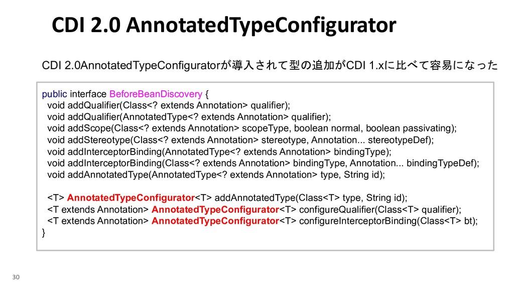 CDI 2.0AnnotatedTypeConfigurator CDI ...