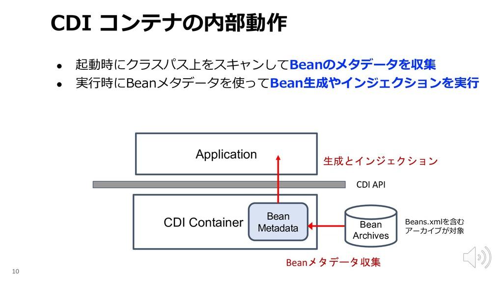 ● B . ● . 10 Application CDI Container CDI API ...