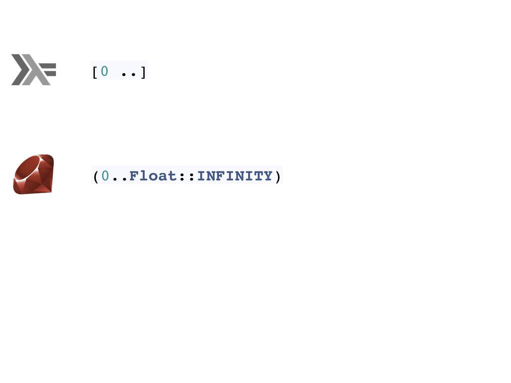 [0 ..] (0..Float::INFINITY)