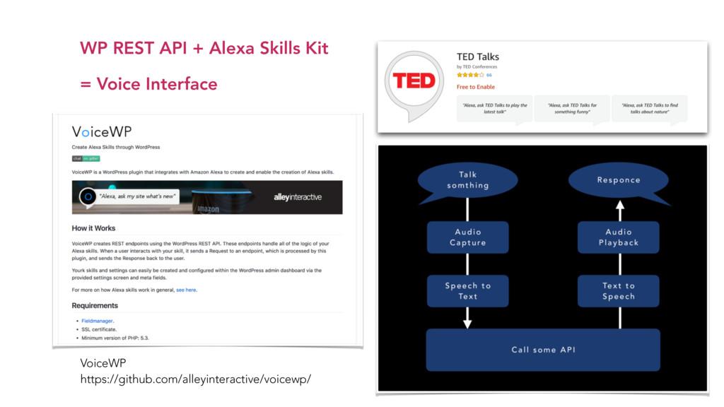 WP REST API + Alexa Skills Kit  = Voice Interf...