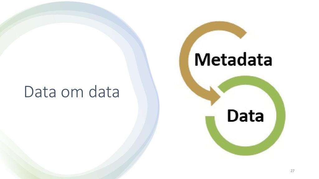 Data om data 27