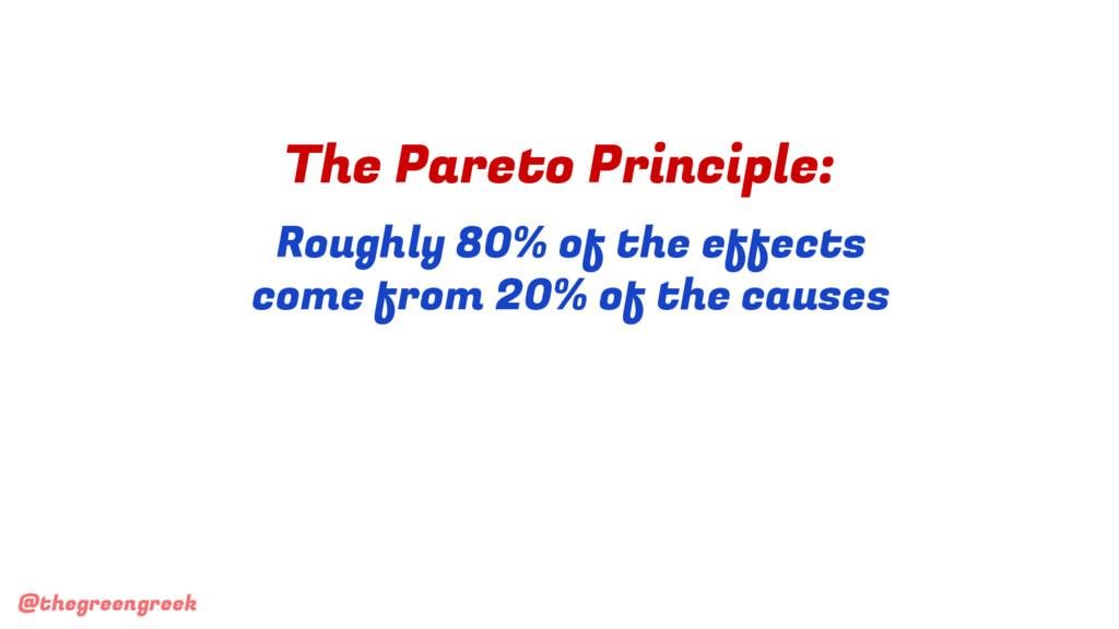 @thegreengreek The Pareto Principle: Roughly 80...