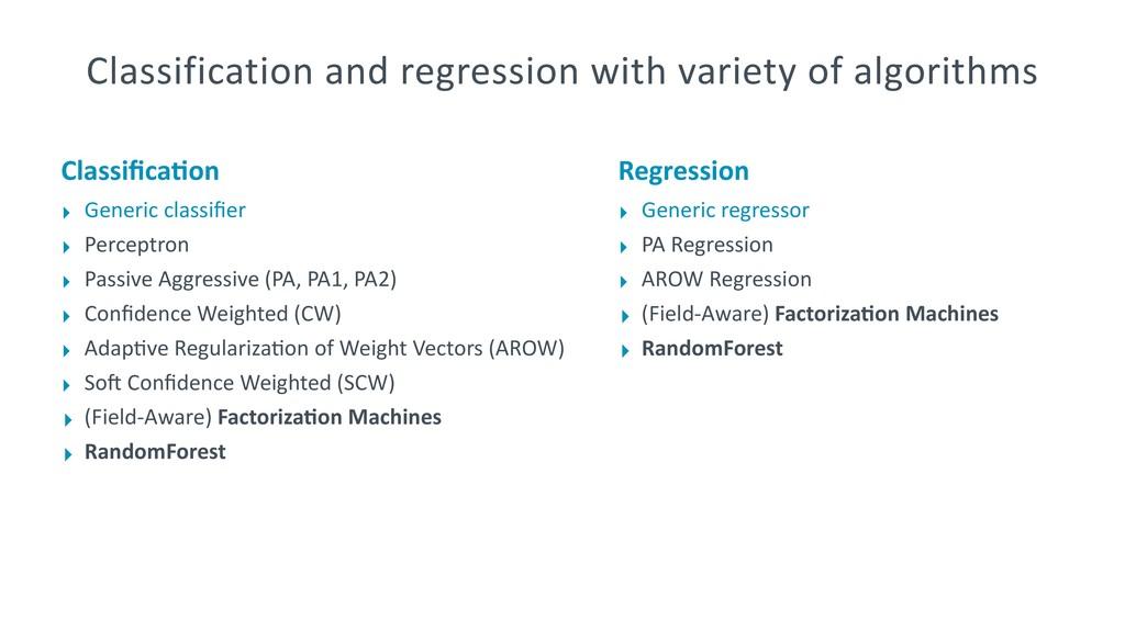 Classifica;on ‣ Generic classifier ‣ Perceptron ‣...