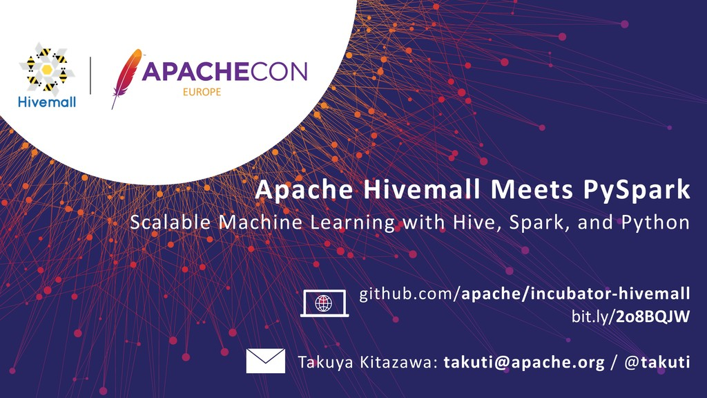 Apache Hivemall Meets PySpark 