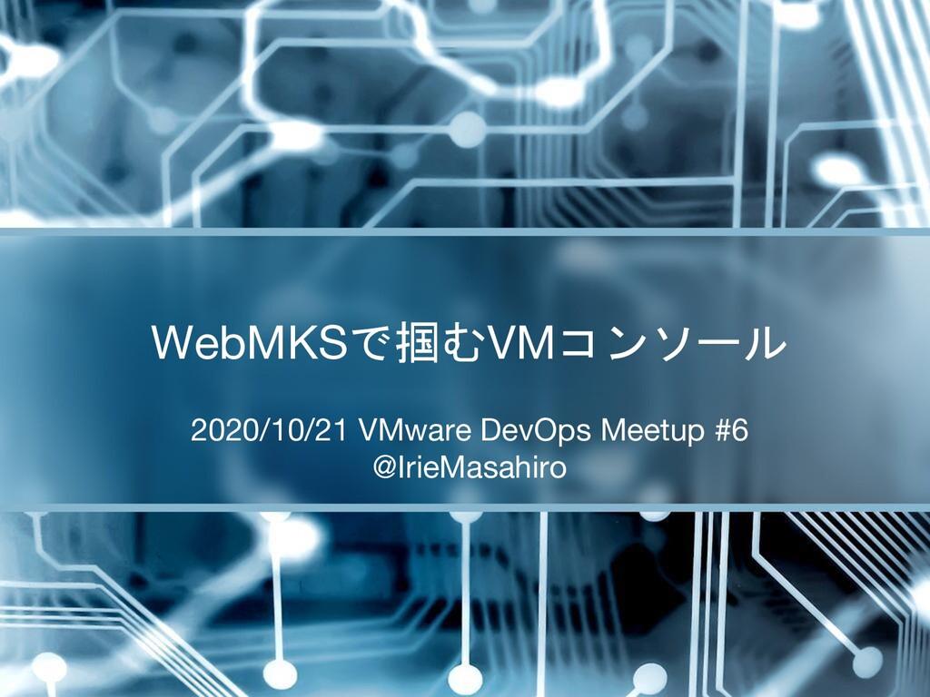 2020/10/21 VMware DevOps Meetup #6 @IrieMasahir...