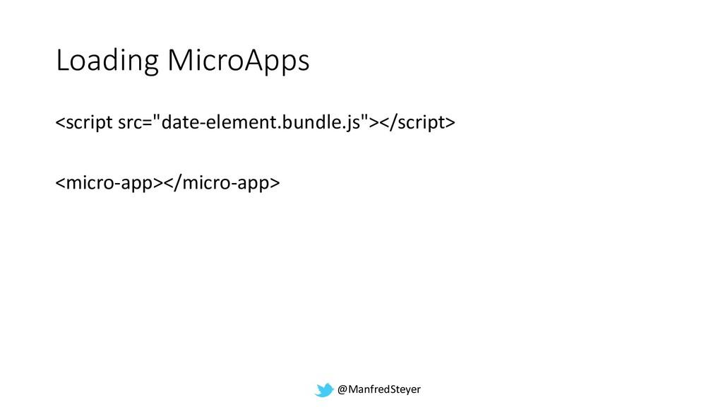 """@ManfredSteyer Loading MicroApps <script src=""""d..."""