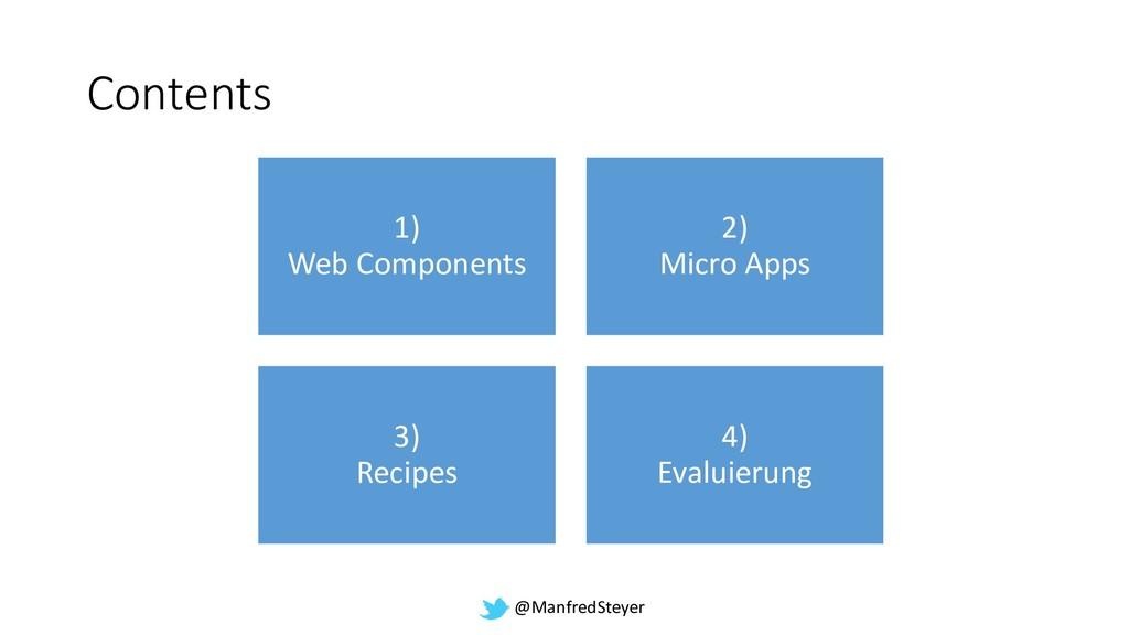 @ManfredSteyer Contents 1) Web Components 2) Mi...