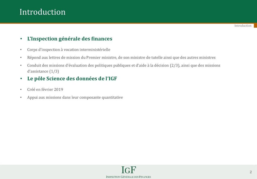 • L'Inspection générale des finances • Corps d'...