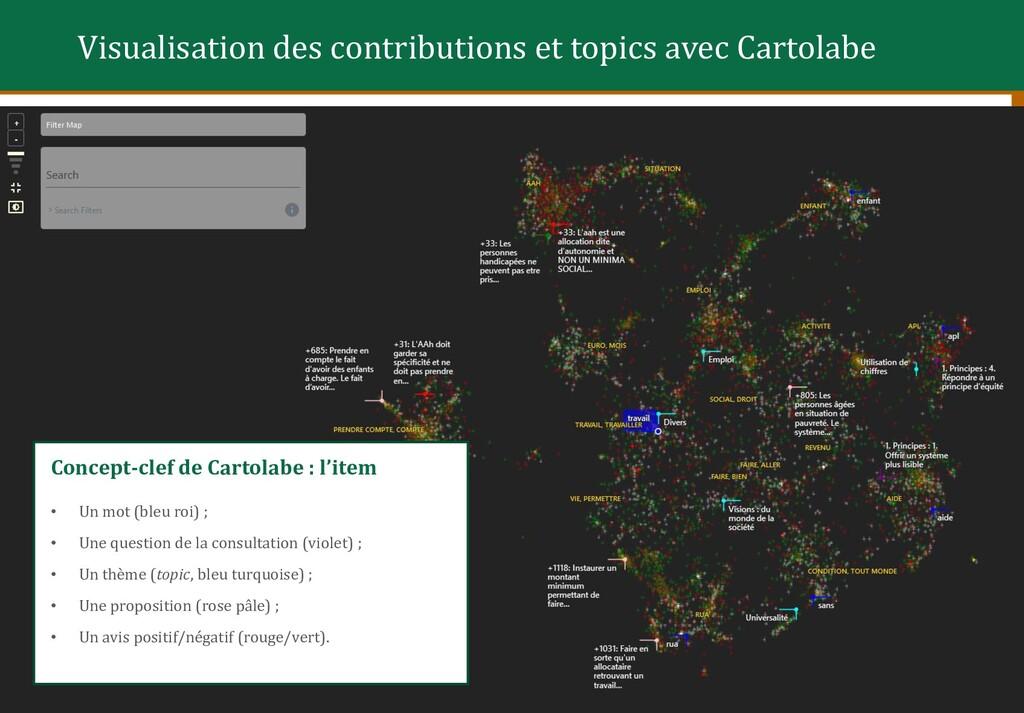 Concept-clef de Cartolabe : l'item • Un mot (bl...