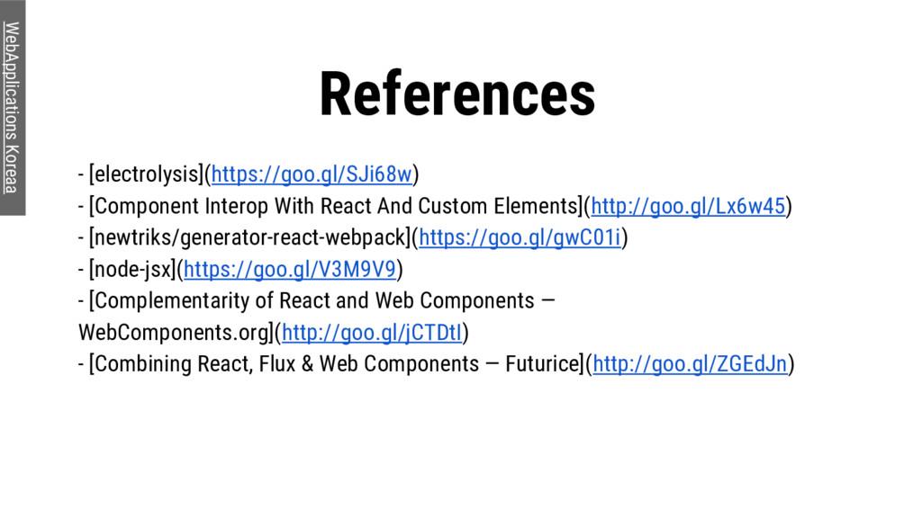 References WebApplications Koreaa - [electrolys...