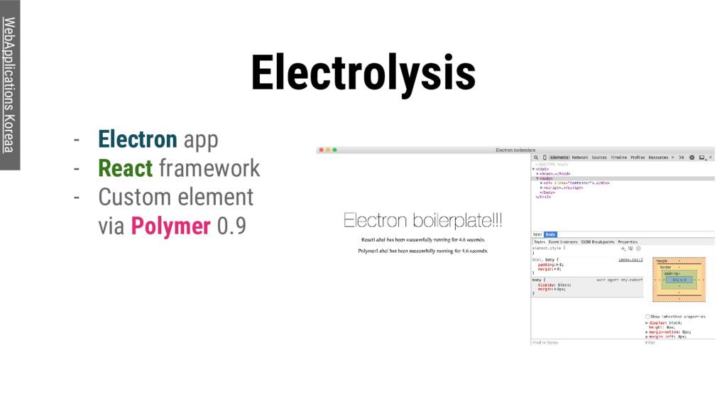 Electrolysis - Electron app - React framework -...