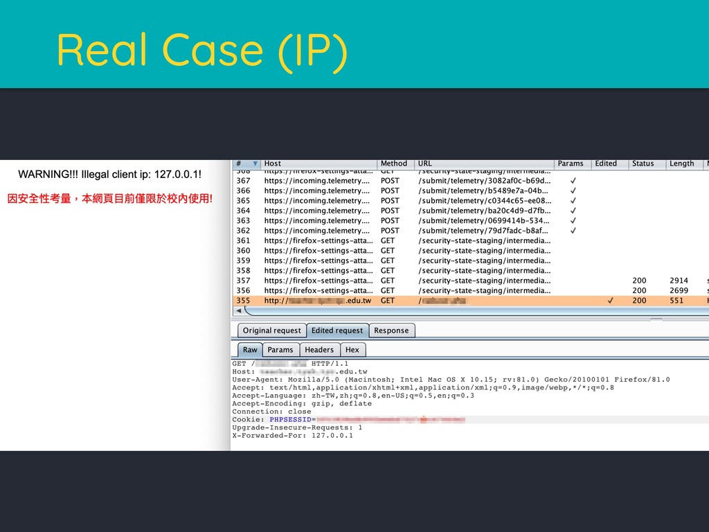 Real Case (IP)