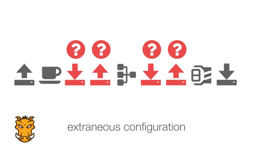             extraneous configuration