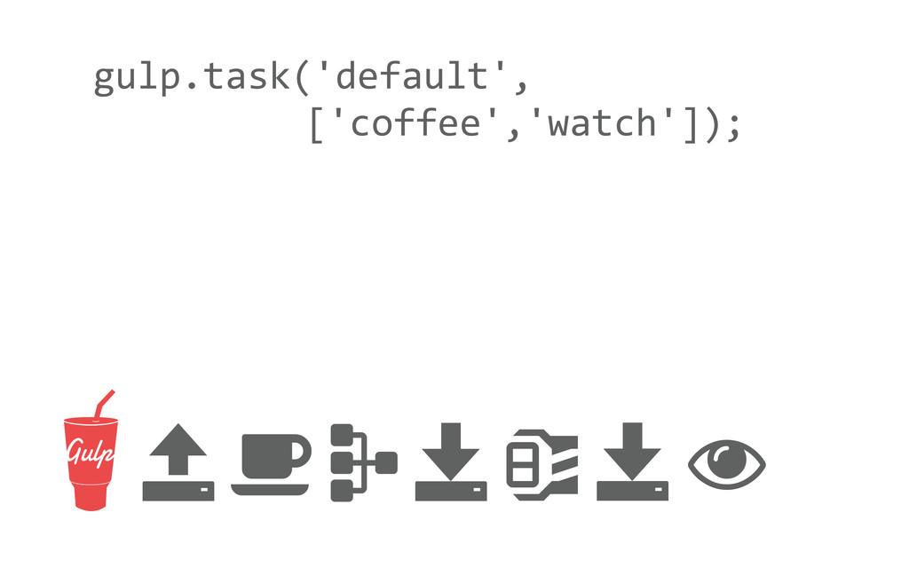 gulp.task('default',      ['coff...