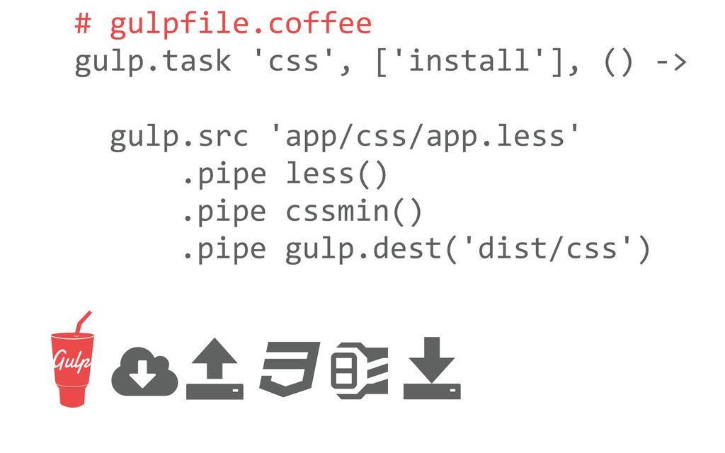 # gulpfile.coffee gulp.task 'css', ['i...