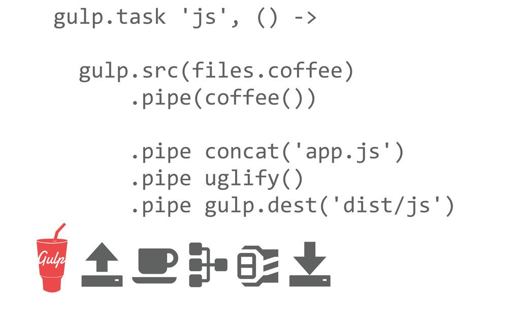 gulp.task 'js', () -‐>   gulp.s...