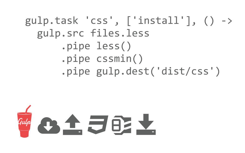 gulp.task 'css', ['install'], () -...