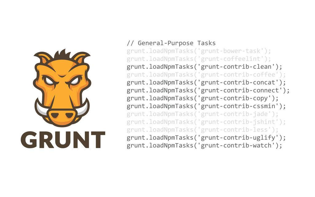 // General-‐Purpose Tasks grunt.loadNpmT...
