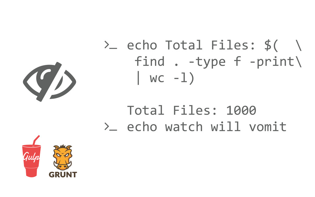  echo Total Files: $(  \  fi...