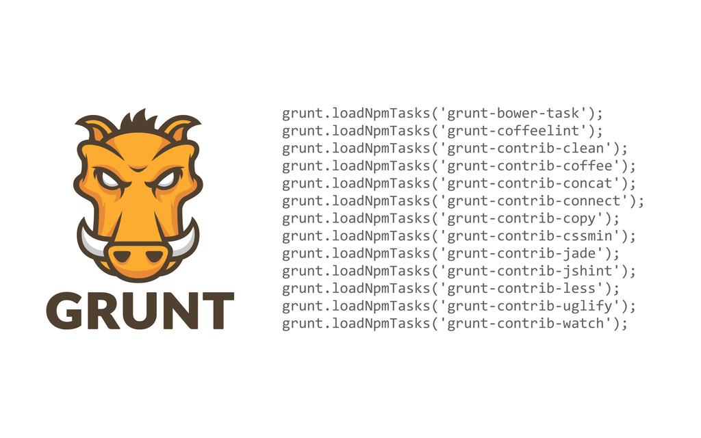 grunt.loadNpmTasks('grunt-‐bower-‐task'); gru...