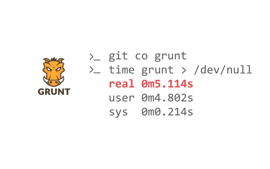   git co grunt time grunt > /d...