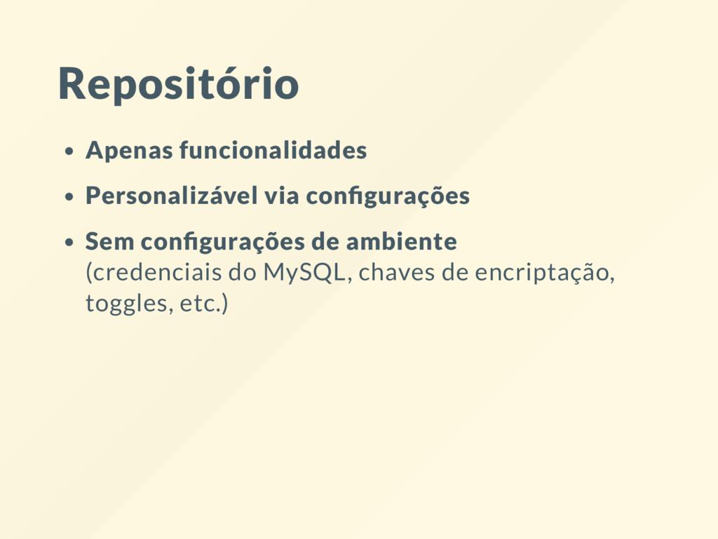 Repositório Apenas funcionalidades Personalizáv...