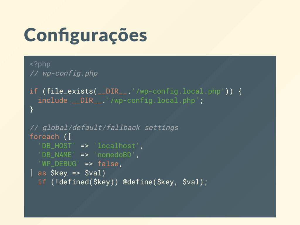 Con gurações <?php // wp-config.php if (file_ex...