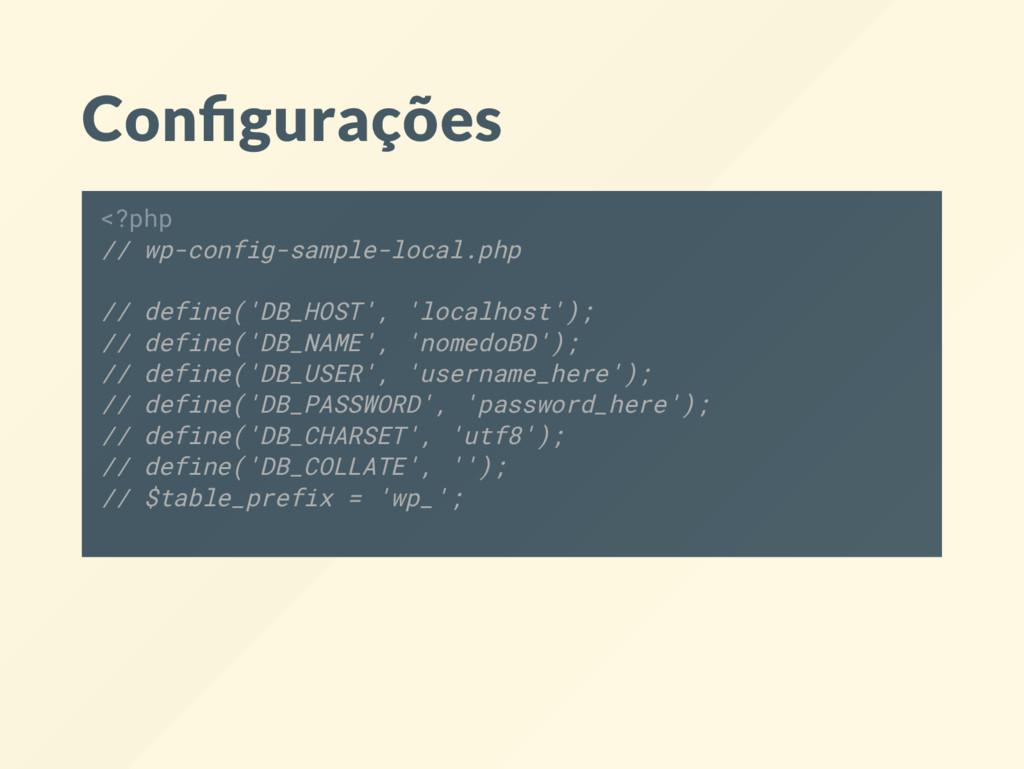 Con gurações <?php // wp-config-sample-local.ph...