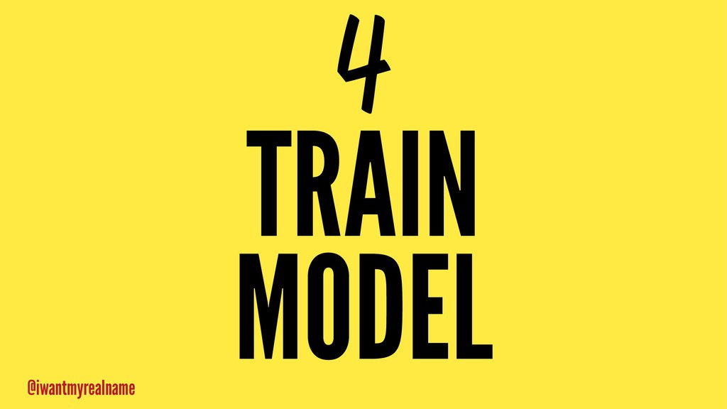 4 TRAIN MODEL @iwantmyrealname