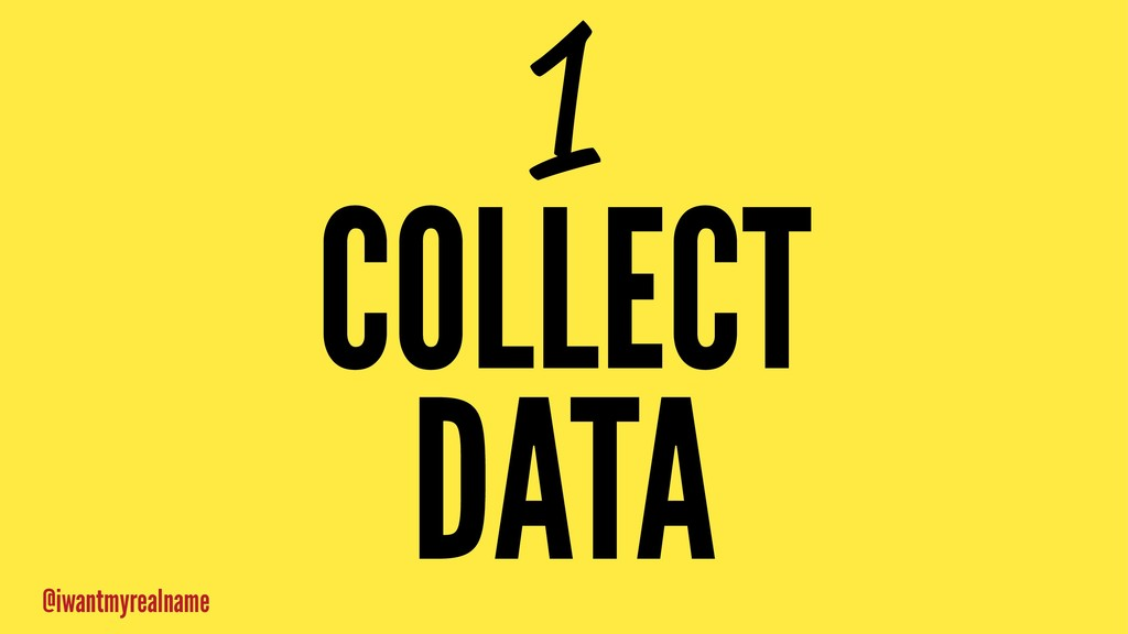 1 COLLECT DATA @iwantmyrealname