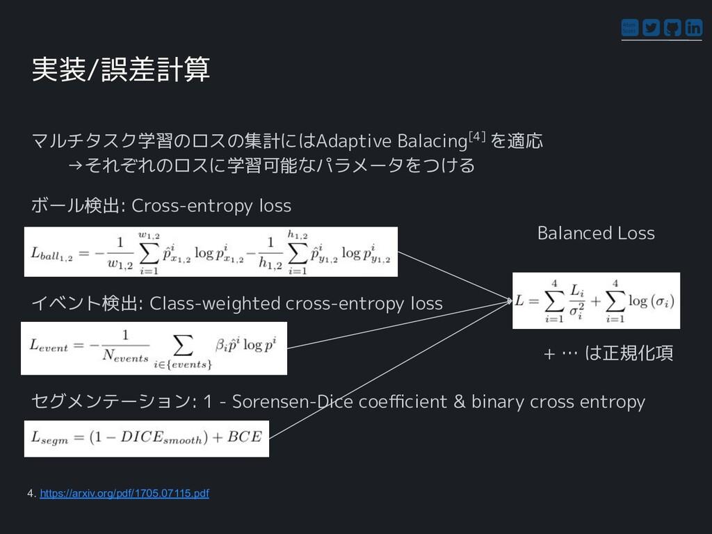 Atom Scott マルチタスク学習のロスの集計にはAdaptive Balacing[4]...
