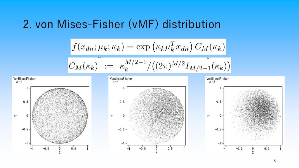 2. von Mises-Fisher (vMF) distribution 6